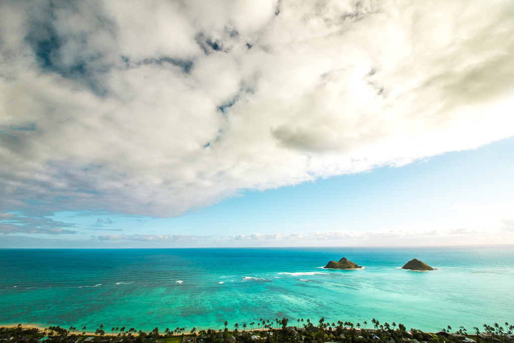 Lanikai Pillboxes trail during our sunrise hike