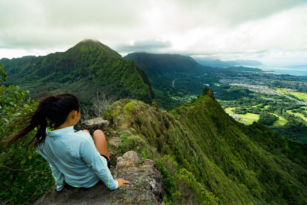 looking over pali notches