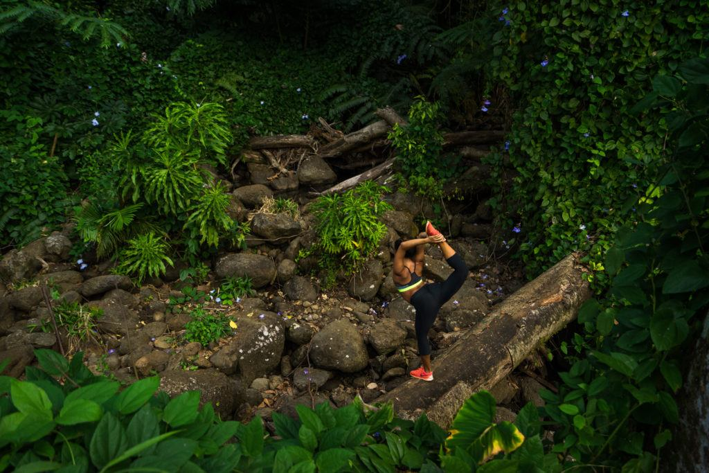 yoga in manoa falls