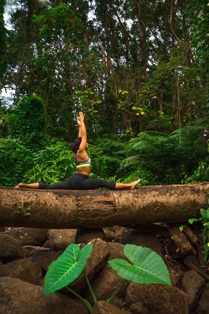 Yoga at Manoa falls