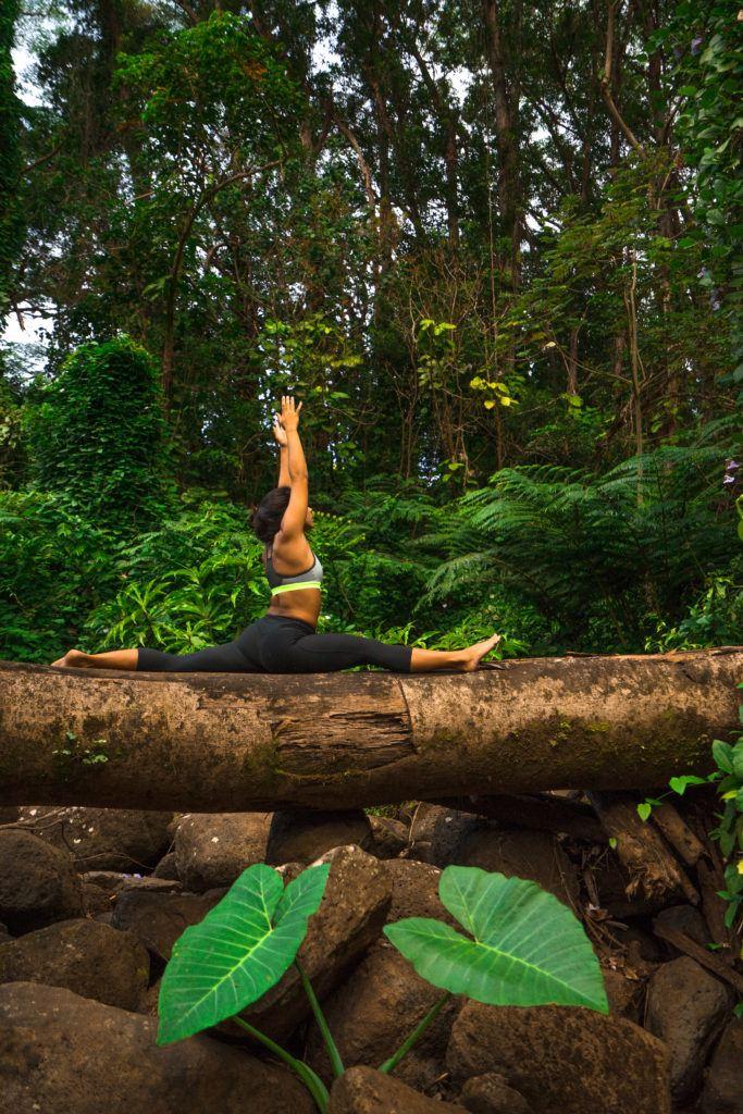 Yoga at Manoa falls