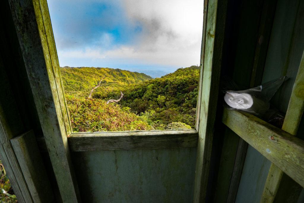Outdoor toilet at Koloa Cabin, Oahu, Hawaii
