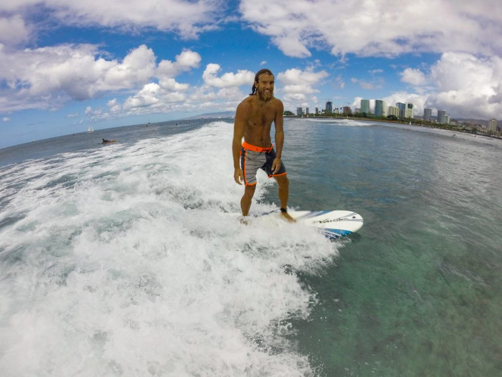 surfing in waikiki