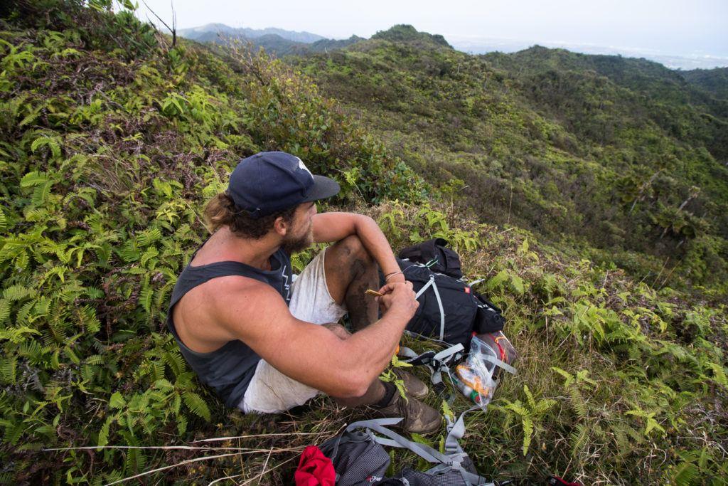 Lunch Break, Koolau Summit Trail, Oahu, Hawaii