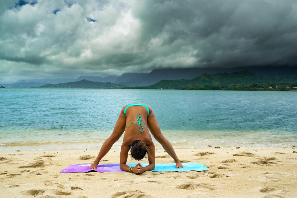 yoga poses for travelers fold