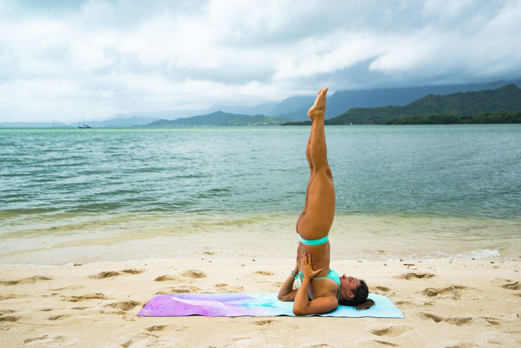 yoga poses for travelers candle