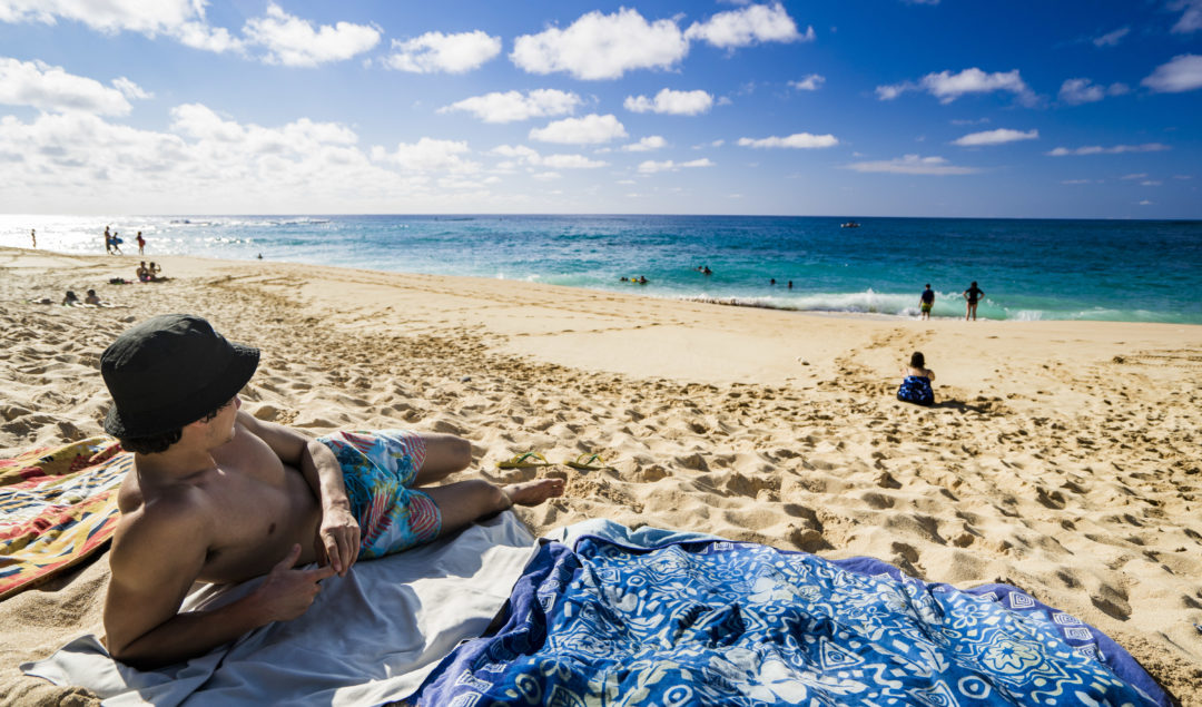 BEACH CAMPING ON OAHU HAWAII