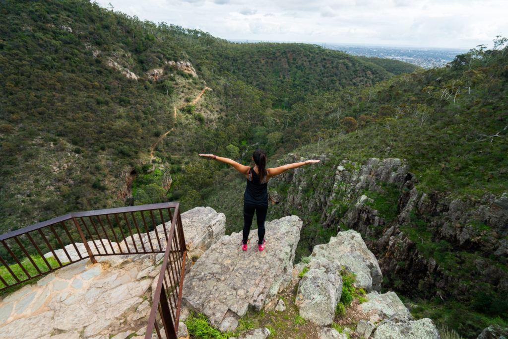 morialta falls, hiking adelaide