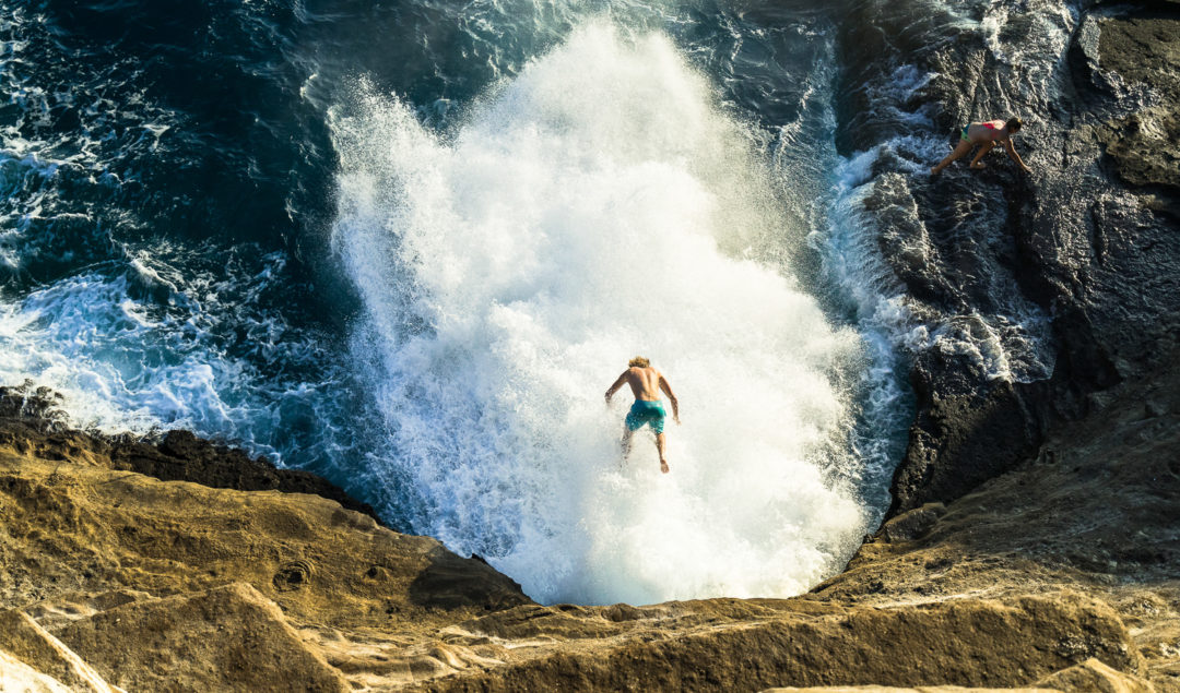 SPITTING CAVE CLIFF JUMPING ON OAHU HAWAII Journey Era - 7 best things to do for thrill seekers in hawaii