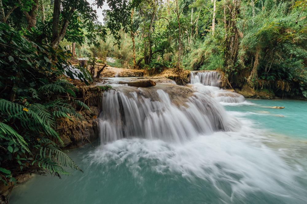 Genial Kuang Si Falls, Kuang Si, Kuang Si Waterfall Luang Prabang, Kuang Si  Wasserfall