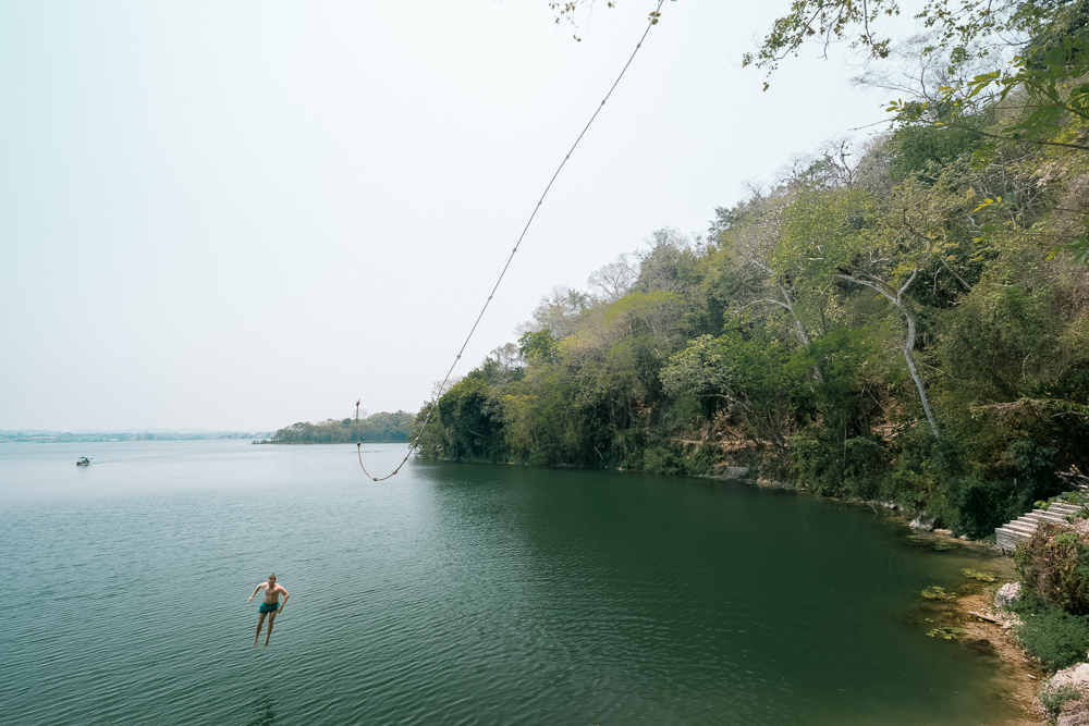 flores rope swing, flores things to do