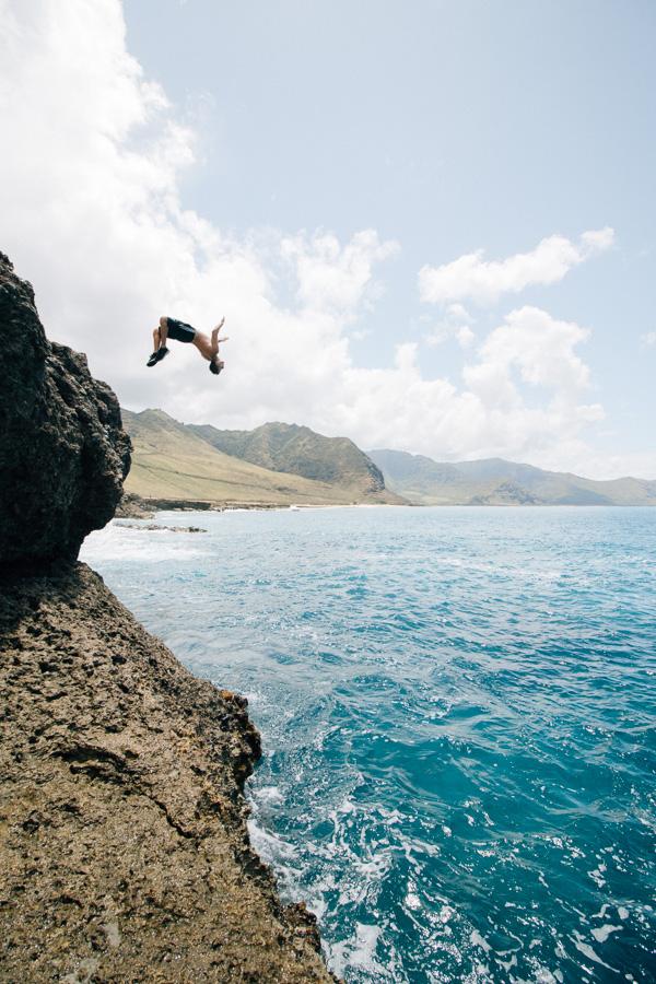 cliff jump oahu