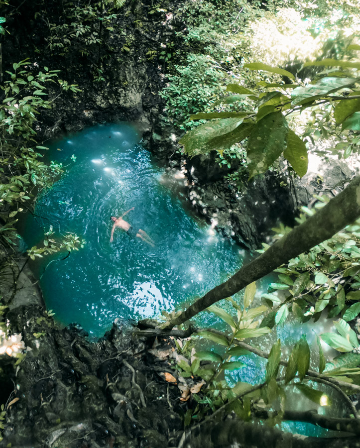 TAYANGBAN CAVE POOL ON SIARGAO ISLAND