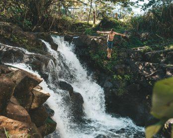 hopi falls, waterfall hikes kauai, secluded falls kauai, hopi falls kauai, hoopii falls trail, hoopii falls kauai directions, hoopii falls kauai, hoopii falls hike kauai, hoopii falls directions, hoopii falls entrance, hoopii, hoopii falls, HOOPII FALLS KAUAII, HIKING KAAPA, HIKE TO WATERFALL KAUAI,