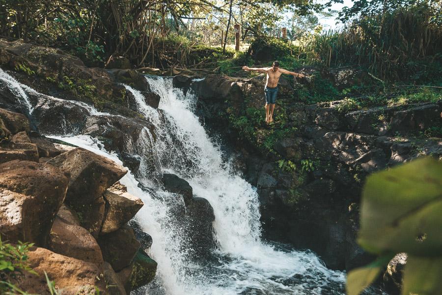 HO'OPI'I FALLS HIKE & CLIFF JUMP ON KAUAI, HAWAII - Journey Era