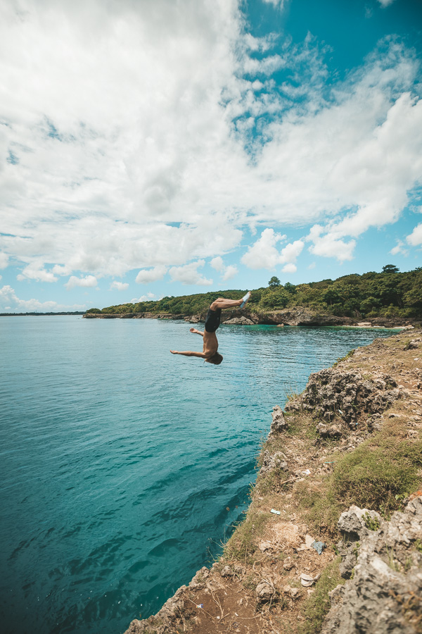 Bali cliff jump