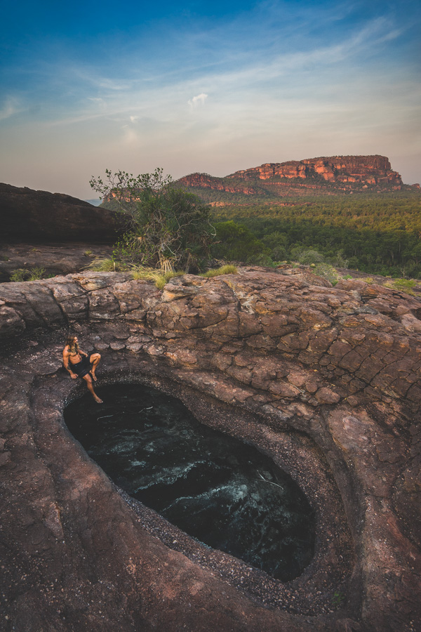 nourlangie rock lookout sunset kakadu