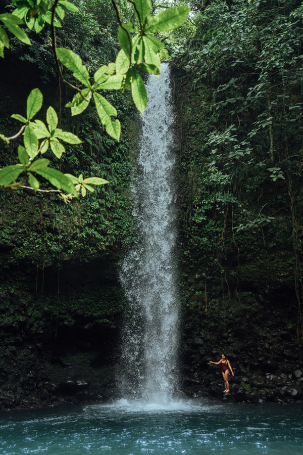 CHOCLON WATERFALL IN CHIRIQUI, PANAMA