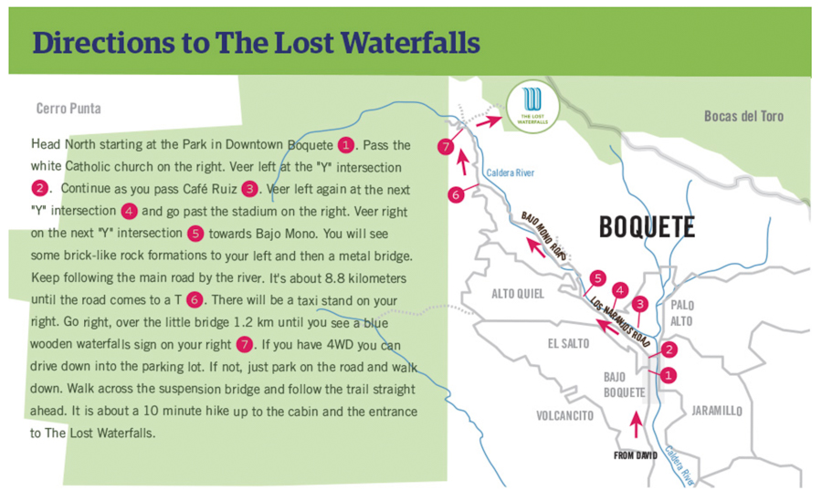 lost waterfalls map