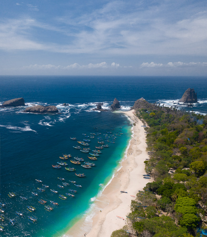 PAPUMA BEACH AND PAYANGAN BEACH IN EAST JAVA